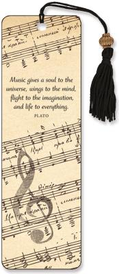 Music Beaded Bookmark By Peter Pauper Press (COR)